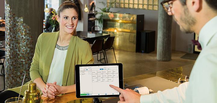 La caisse enregistreuse sur iPad – prendre une commande