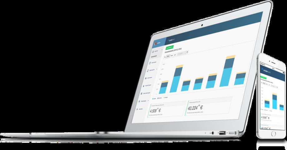 Macbook und iPhone mit dem my.orderbird Geschäftszugang