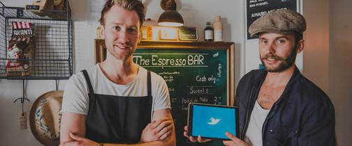 Kassensystem von orderbird in der Espresso-Bar
