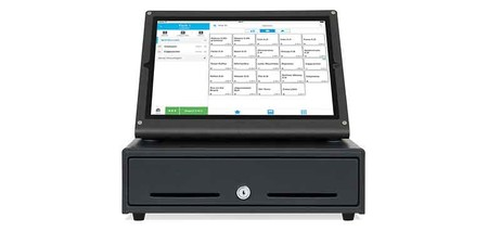 Kassensystem im iPad-Ständer mit Kassenlade