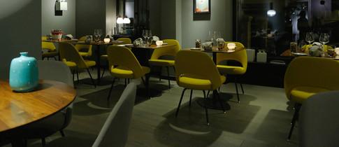 Restaurant Gustav Innenraum Tische