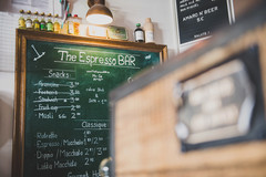 orderbird Kunde Espresso Bar Kreidetafel