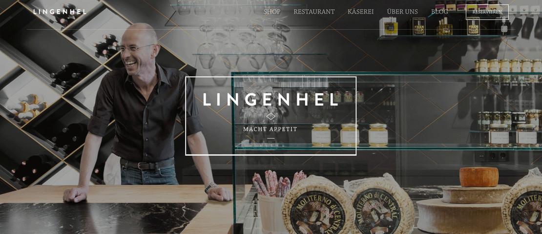 Johannes Lingenel hinter der Theke seines Restaurants
