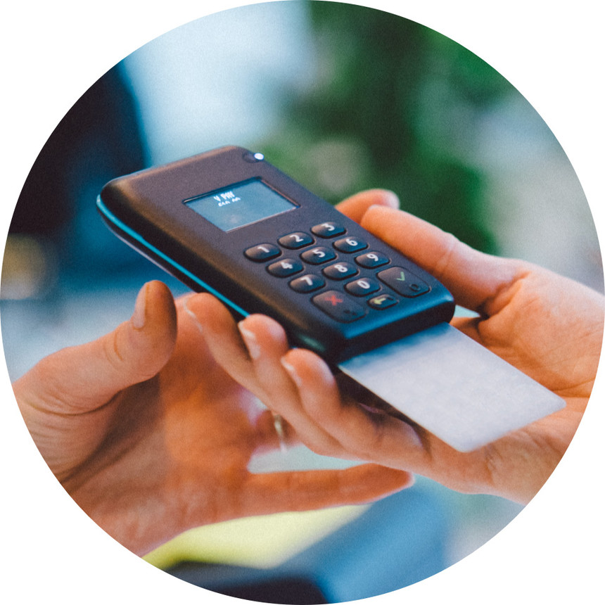 Kartenlesegerät von orderbird Pay mit dem Kartenzahlung akzeptiert wird