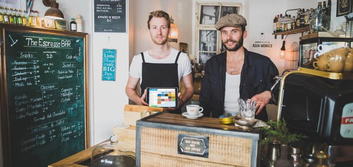 Kasse für Café bei The Espresso Bar in Frankfurt